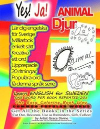 Radiodeltauno.it Yes! ENGLISH for SWEDEN ONE WORD PER BOOK REPEATED 20x The Easy Coloring Book Way: COMMON POPULAR WORDS Get All the Books in the Series Cut Out, Decor Image