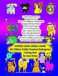 Skopia.it SWEDEN LEARN ANIMAL NAMES Kid Children Toddler Preschool Kindergarted Coloring Book by Grace Divine Image