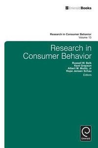 Research in Consumer Behavior (inbunden)