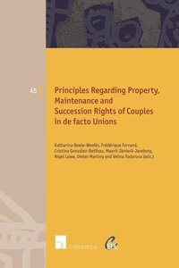 Principles of European Family Law Regarding Property, Maintenance and Succession Rights of Couples in de Facto Unions (häftad)