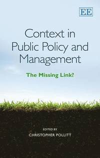 Context in Public Policy and Management (inbunden)