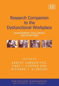 Research Companion to the Dysfunctional Workplace (inbunden)