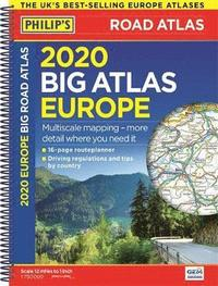 2020 Philip's Big Road Atlas Europe (häftad)