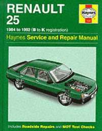 Renault 25 Service Repair Manual (inbunden)