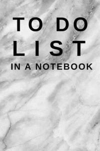 To Do List in a Notebook: (6x9) Marble Cover, Daily Planner to Increase  Your Productivity, Undated 90 Day to Do Task List, Durable Matte Cover av  To