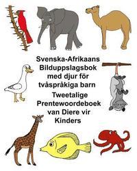 Skopia.it Svenska-Afrikaans Bilduppslagsbok med djur för tvåspråkiga barn Tweetalige Prentewoordeboek van Diere vir Kinders Image