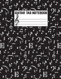 Guitar Tab Notebook Large Print 85x11 With 108 Pages Chord Boxes