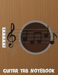 Guitar Tab Notebook Music Manuscript Paper 85x11large Print