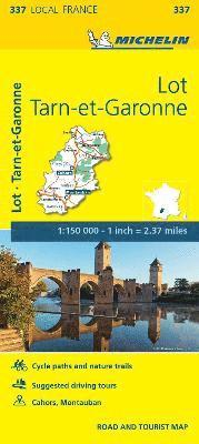 Lot, Tarn-et-Garonne - Michelin Local Map 337
