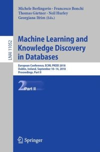 Machine Learning and Knowledge Discovery in Databases (e-bok)