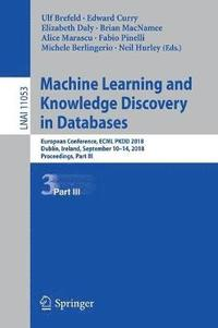 Machine Learning and Knowledge Discovery in Databases (häftad)