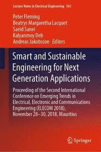 Smart and Sustainable Engineering for Next Generation Applications (inbunden)