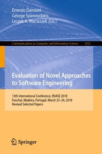Evaluation of Novel Approaches to Software Engineering (e-bok)