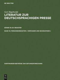 Personenregister ( Verfasser und Biographien ) - E-bok