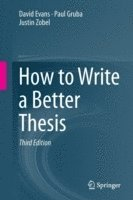 How to Write a Better Thesis (häftad)