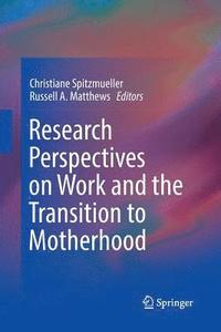 Research Perspectives on Work and the Transition to Motherhood (häftad)