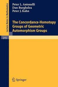 The Concordance-Homotopy Groups of Geometric Automorphism Groups (häftad)