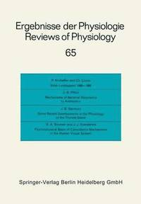 Ergebnisse der Physiologie / Reviews of Physiology (häftad)