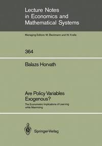 Are Policy Variables Exogenous? (häftad)