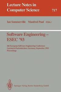 Software Engineering - ESEC '93 (häftad)
