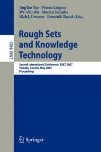 Rough Sets and Knowledge Technology (häftad)