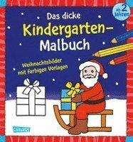 Weihnachtsbilder Für Frauen.Das Dicke Kindergarten Malbuch Weihnachtsbilder Mit Farbigen Vorlagen Häftad