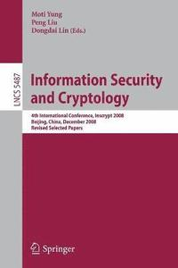 Information Security and Cryptology (häftad)