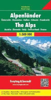 The Alps (A, Ch, F, I, Slo) Road Map 1:500 000