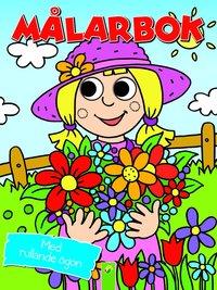 Målarbok trädgårdsmästare med rullande ögon