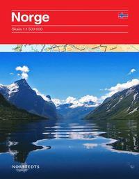 Karta Syd Norge.Norge Vagkarta 1 1 5m Falsad 9789113056869 Bokus