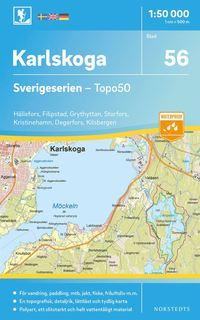Radiodeltauno.it 56 Karlskoga Sverigeserien Topo50 : Skala 1:50 000 Image