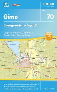 Tortedellemiebrame.it 70 Gimo Sverigeserien Topo50 : Skala 1:50 000 Image