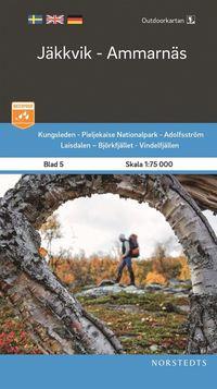 Rsfoodservice.se Outdoorkartan Jäkkvik Ammarnäs : Blad 5 Skala 1:75 000 Image