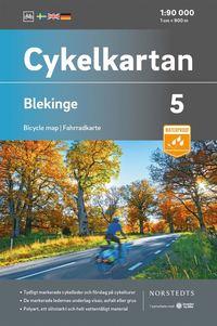Skopia.it Cykelkartan Blad 5 Blekinge : Skala 1:90 000 Image