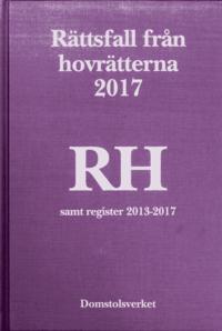 Skopia.it Rättsfall från hovrätterna. Årsbok 2017 (RH) : samt register 2013-2017 Image