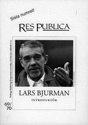 Radiodeltauno.it Res Publica 69/70. Lars Bjurman, introduktör Image