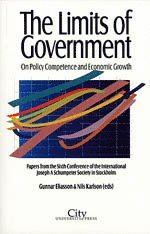 The limits of government : on policy competence and economic growth : papers from the sixth conference of the international Joseph A Schumpeter society in Stockholm (häftad)