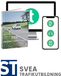 Körkortsboken på Engelska 2021 ; Driving licence book (book + theory pack with online exercises, theory questions, audiobook & ebook) (häftad)