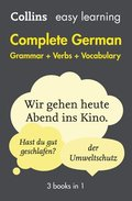 Easy Learning German Complete Grammar, Verbs and Vocabulary (3 books in 1)