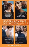 Modern Romance December 2019 Books 5-8: Snowbound with His Forbidden Innocent / A Deal to Carry the Italian's Heir / Christmas Contract for His Cinderella / Maid for the Untamed Billionaire (Mills &