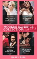 Modern Romance March 2020 Books 5-8: The Greek's Duty-Bound Royal Bride / Her Boss's One-Night Baby / Demanding His Billion-Dollar Heir / The Scandal Behind the Italian's Wedding