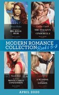 Modern Romance April 2020 Books 5-8: Kidnapped for His Royal Heir (Passion in Paradise) / The Italian's Pregnant Cinderella / My Shocking Monte Carlo Confession / A Scandal Made in London