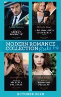 Modern Romance October 2020 Books 1-4: A Baby on the Greek's Doorstep (Innocent Christmas Brides) / The Billionaire's Cinderella Contract / Penniless and Secretly Pregnant / Stealing the Promised Pr