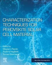 Characterization Techniques for Perovskite Solar Cell Materials
