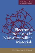 Electronic Processes in Non-Crystalline Materials