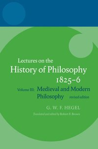 Hegel: Lectures on the History of Philosophy