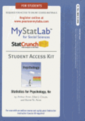 NEW MyLab Statistics  with Pearson eText -- Standalone Access Card -- for Statistics for Psychology
