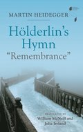 Holderlin's Hymn &quote;Remembrance&quote;