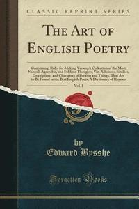 The Art of English Poetry, Vol. 1