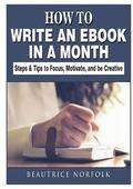 How to Write an eBook in a Month